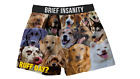 Mens Boxers Shorts Funny Underwear RUFF DAY DOG PUPPY PRINT Soft Silky Gift NEW