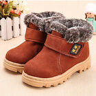 SAGUARO Kids Winter Warm Ankle Boots Fur-Lining Casual Shoes Snow Boots
