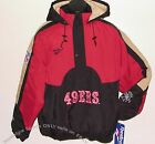Vintage 90s SF 49ers REEBOK JACKET Pullover NFLProLine OnFIELD NWT New Old Stock