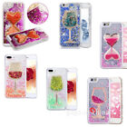 3D Glitter Bling Hearts Flowing Liquid Heart Clear Hard Case for iPhone 7/8Plus