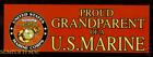 TWO PROUD GRANDPARENT OF A US MARINE BUMPER STICKER DECAL ZAP MADE PIN UP MR