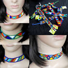 African Zulu choker necklace beaded bright colours handmade hypoallergenic