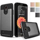 Brushed Armor Shockproof Hard Slim Case Cover + Tempered Glass Screen Protector