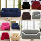 3 seat couch - Pure Color Stretch Elastic Slipcover Sofa Protect Full Cover Couch 1 2 3 4 Seat