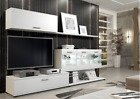 Vetro White or Oak Effect TV Cabinet Media Wall Unit TV Display Lounge Stand