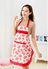 Waist Floral Waterproof Jeanette Aprons Women's Housewife Convenient Kitchen