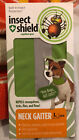 Insect Shield Neck Gaiter Dogs, Multiple Sizes, Green, Brand New