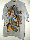 NEW DRAGON vs TIGER HAWAIIAN SHIRT L gray  M gray or M navy