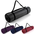 10mm Non-Slip Foam Thick Yoga Pilates Exercise Fitness Mat Camping Strap Carry