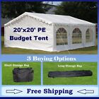 Budget PE Party Canopy - 3 Options - 20' series Tent, Short Bag, and Long Bag