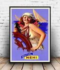 Drink Nehi :  Vintage magazine advert ,  Poster reproduction.