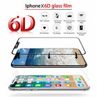 """6D Full Curved Protection Cover Tempered Glass Screen Film For iPhone X 10 5.8"""""""