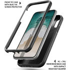 For iPhone X iPhone XS Poetic Revolution Full-Body Rugged Heavy Duty Case Black