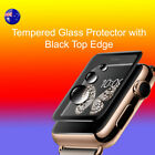 Apple Watch Tempered Glass w Black Top Edge Screen Protector/Cover - 42/38mm