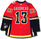 JOHNNY GAUDREAU CALGARY FLAMES ADIDAS ADIZERO HOME JERSEY AUTHENTIC PRO