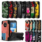 Rugged Duo Layered Case w/Stand Cover for Motorola Moto E4 Plus