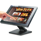 15 inch Touch Screen LED POS TFT Monitor Kiosk Restaurant Cafe Bar Retail+Stand
