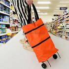 Oxford Fabric Collapsible Foldable Shopping Bag Cart Trolley Bag with Wheels
