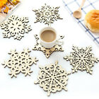 Creative Wooden Christmas Snowflake Delicate Placemat Table Mat Decor Cup