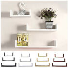 Floating Shelves Set of 3 U Shape Wall Mount Storage Shelf Home Decor 4 Colors