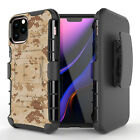 Desert Camo Hybrid Belt Clip Phone Case for iPhone 12 11 XS MAX XR 8 7 6 Series