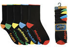 5 Pairs Mens Cotton Socks Days Of The Week Black Boys Size 7-11 Xmas Gift