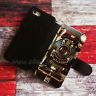 Steampunk camera Wallet iPhone cases Camera Samsung Wallet Leather Phone Case