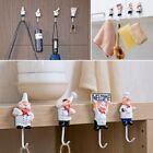 Kitchen Cartoon Chef Hook Resin Powerful Adhesive Hanger Wall Storage Rack