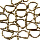 16mm 5/8 in. Brass or Chrome :: Welded :: Metal D-ring for Straps Bag Making