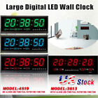 Digital Large Big Digits LED Wall Desk ALARM Clock with Calendar Temperature US