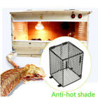 Reptile Basking Lamp Guard Bulb Cage Ceramic Light Cover Protector Heat 13*13cm