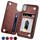 Luxury Magnetic PU Leather Wallet Card Flip Case Cover For iPhone X 8 7 6s Plus