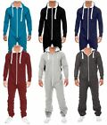 New Men's Two Zip Jogging Jumpsuit Tracksuit All In One Piece Jumpsuit S-XL