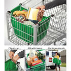 Supermarket Clip-To-Cart Reusable Grocery Shopping Bags, Pack of 2 TR