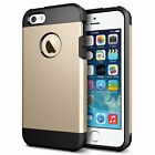 Shockproof Rugged Rubber Silicone Hard Case Cover  for Apple iPhone 4 4s 5 5s SE