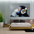 Music Orangutan Animal Print Canvas Art Poster Painting No Frame Home Wall Decor