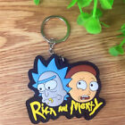 New Double Sides Rick and Morty Soft Rubber Keyring Keychain