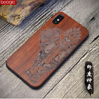 elephant sculpture Natural Wood & soft hybrid Case for iphone 5 6 7 8 X S8 S8P
