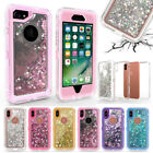 10pcs Liquor Quicksand Hybrid 3in1 Rugged Hard Defender Case For iPhone Samsung