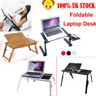 Laptop Bed Tray Table Notebook Computer Holder Tilts Stand Cooling Fan