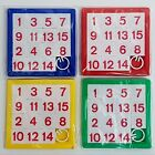Colourful Sliding Number Puzzle Games Children's Party Bag Stocking Filler Toy