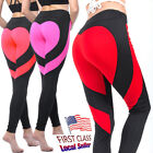 Fittoo Women Yoga Fitness Pants Leggings Heart Butt Lift Stretch Sports Trousers