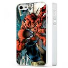 Spiderman On Builiding WHITE PHONE CASE COVER fits iPHONE