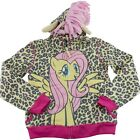 My Little Pony Fluttershy Leopard Print Girls Hoodie Jacket Sweatshirt Youth 6X