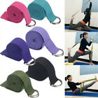 Sport Gym Waist Leg Fitness Training Adjustable Cotton Yoga Stretching Strap Pro