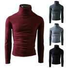Men Turtleneck Jumper Merino Wool Pullover Knitted Polo Roll Neck Knit Top Size