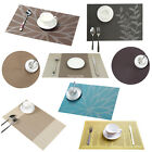 4X PVC Dining Tableware Placemats Bowl Coasters Pad Mat Heat Insulation Woven