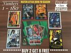 Topps Match Attax Cards 2017/18 17/18, Numbers 1-180, Buy 2 Get 10 Free, MOTM