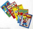 Mini A6 Activity Books, Kids Party Bag Filler Choose Quantity, 6 Designs