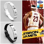 NBA Cavalier LeBron James Wristband Adjustable Silicone Silver Bracelet US SELL